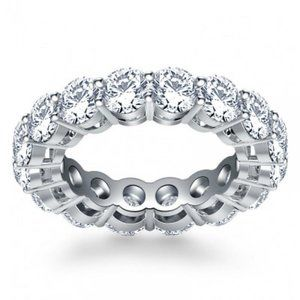 5 Carats Round diamond Wedding band ring white
